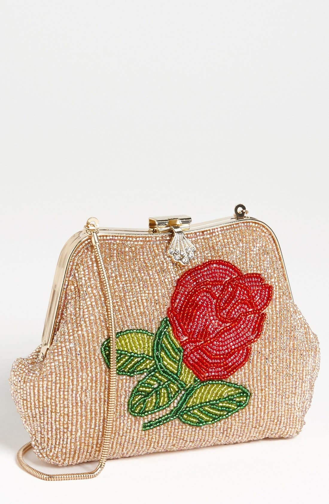 Main Image - Betsey Johnson Beaded Frame Clutch