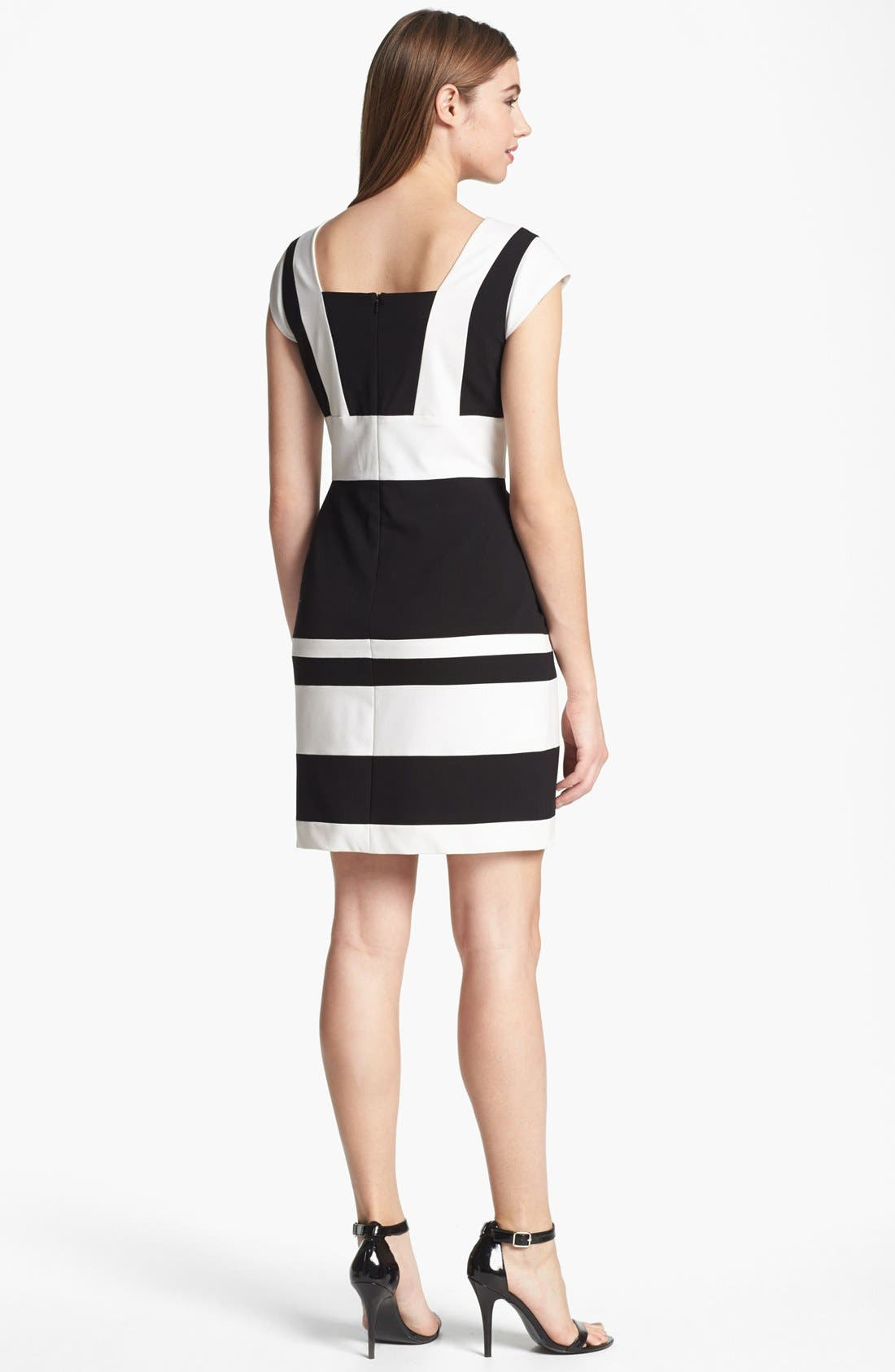 Alternate Image 2  - Marc New York by Andrew Marc Two Tone Sheath Dress