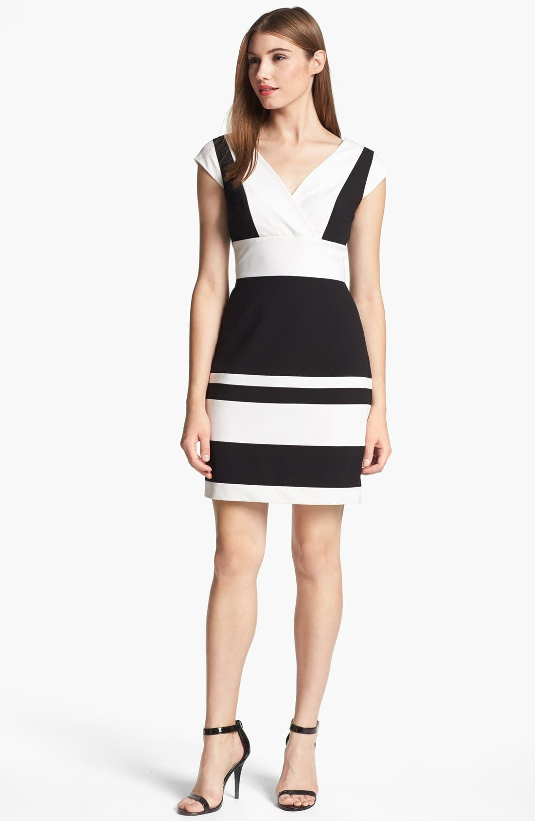 Alternate Image 1 Selected - Marc New York by Andrew Marc Two Tone Sheath Dress