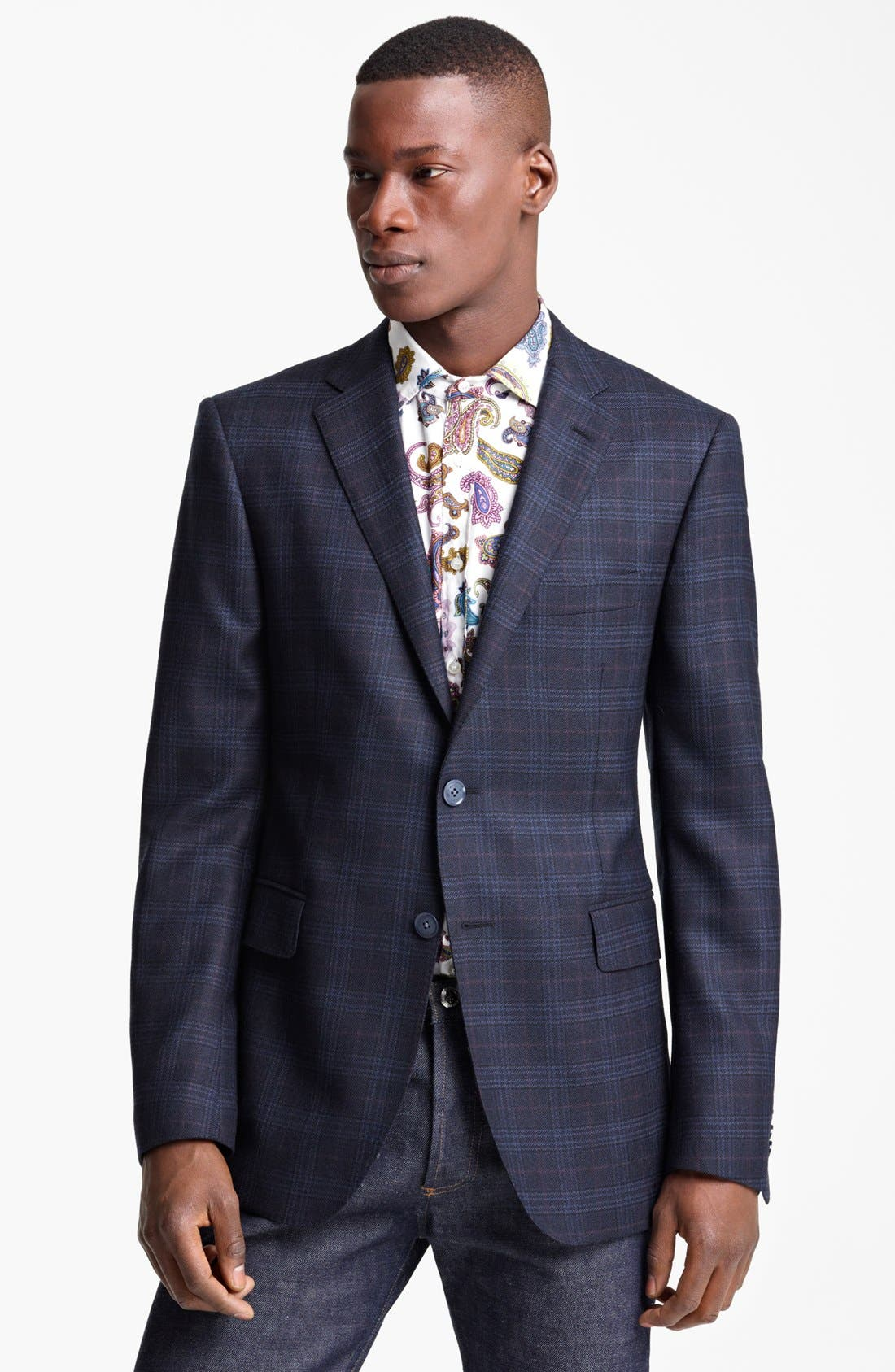 Alternate Image 1 Selected - Etro Plaid Wool Sportcoat