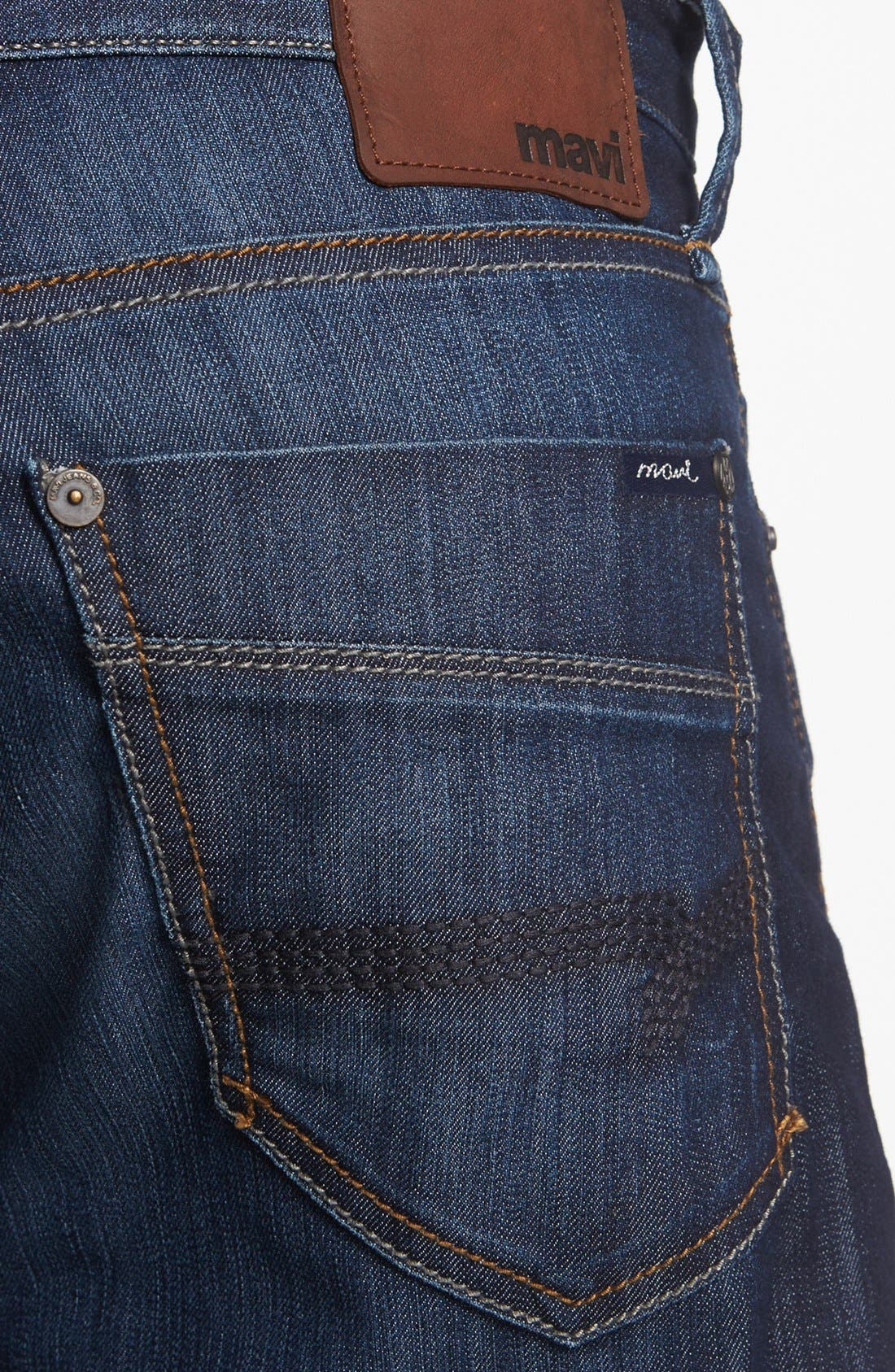 Alternate Image 4  - Mavi Jeans 'Max' Relaxed Jeans (Rinse Arizona Comfort) (Online Only)