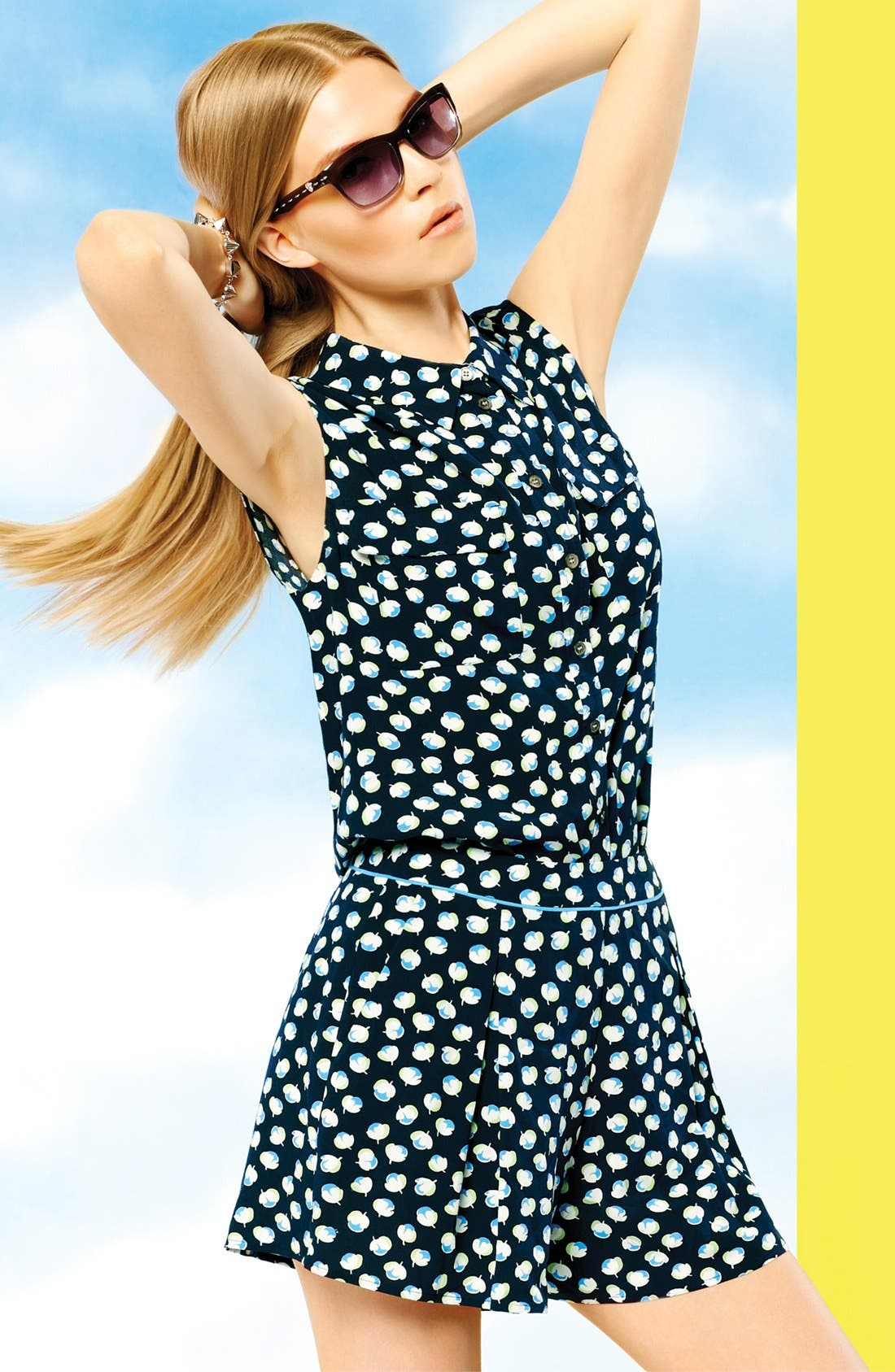 Alternate Image 6  - Two by Vince Camuto Sleeveless Floral Shirt