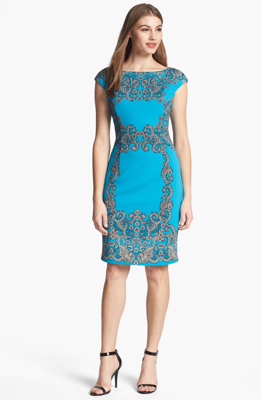 Alternate Image 1 Selected - Maggy London Print Sheath Dress