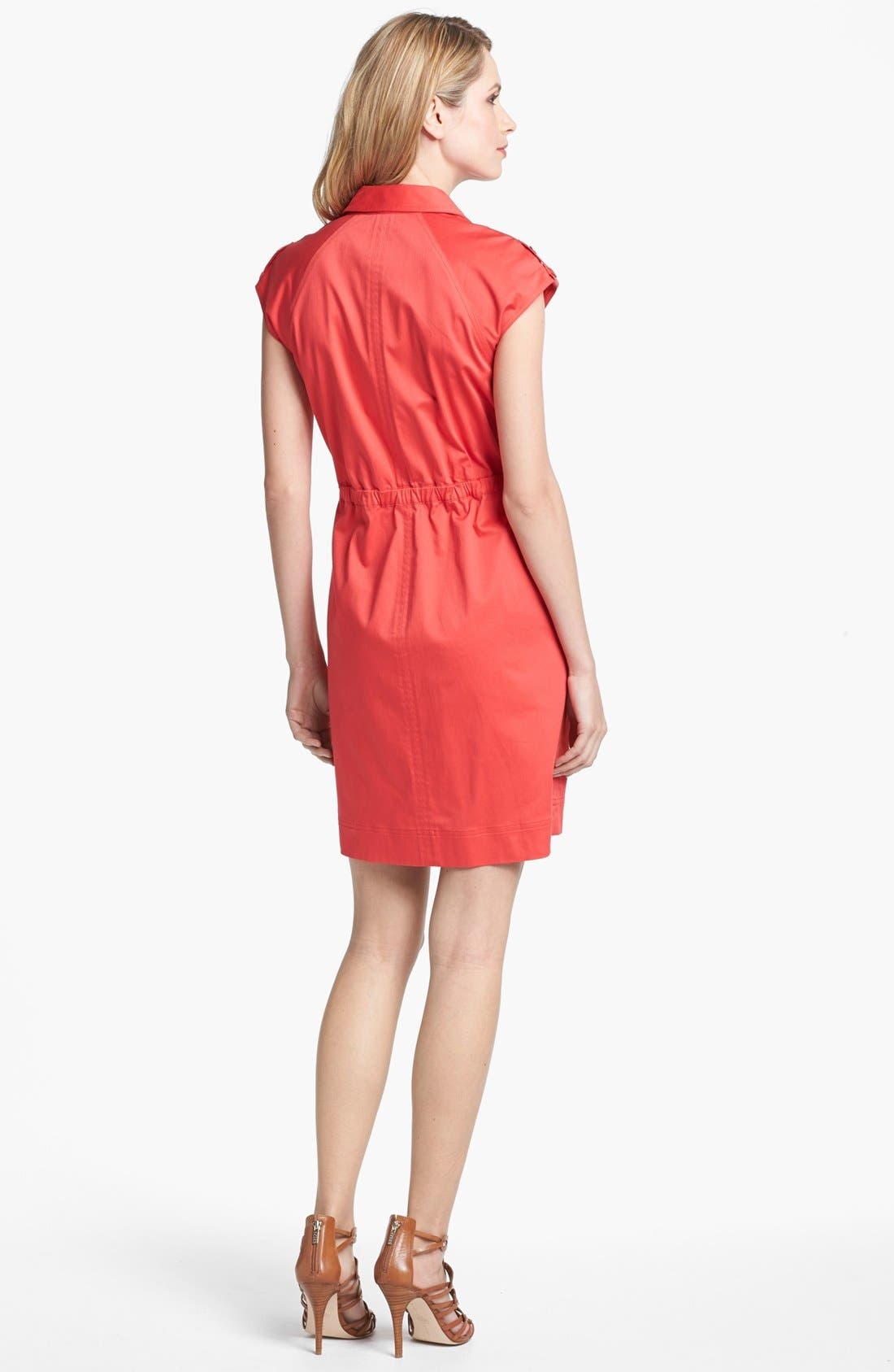 Alternate Image 2  - Ellen Tracy Front Zip Shirtdress