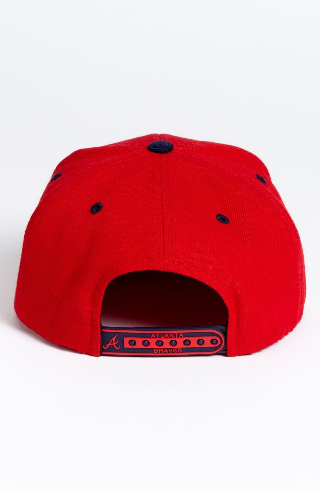 Alternate Image 2  - American Needle 'Atlanta Braves - Back 2 Front' Snapback Baseball Cap