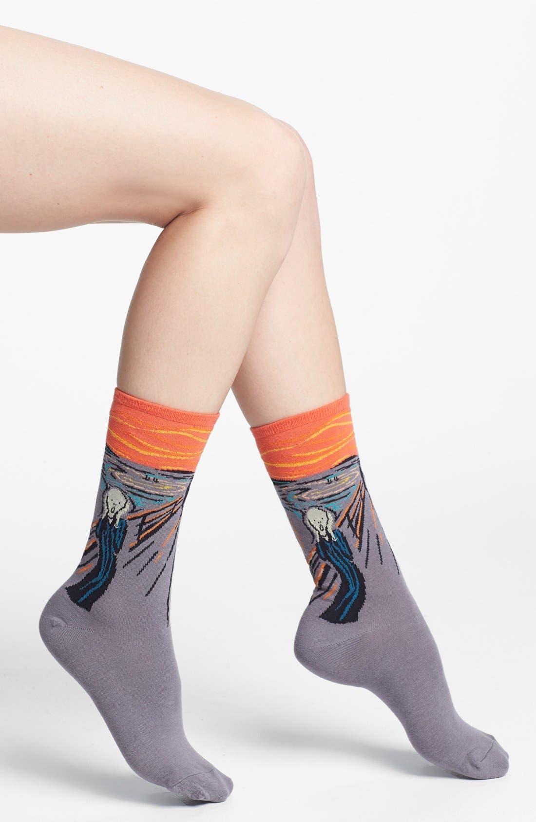 Alternate Image 1 Selected - Hot Sox 'Scream' Socks