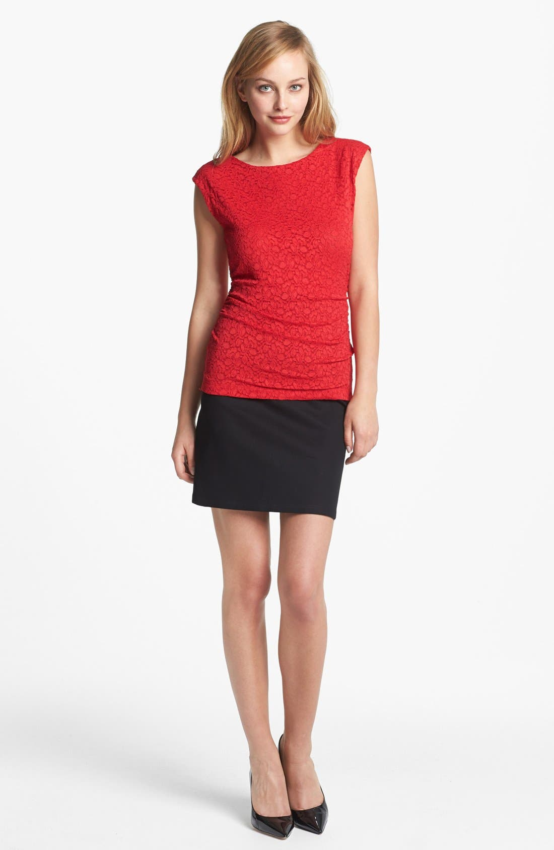 Alternate Image 4  - Vince Camuto Lace Top
