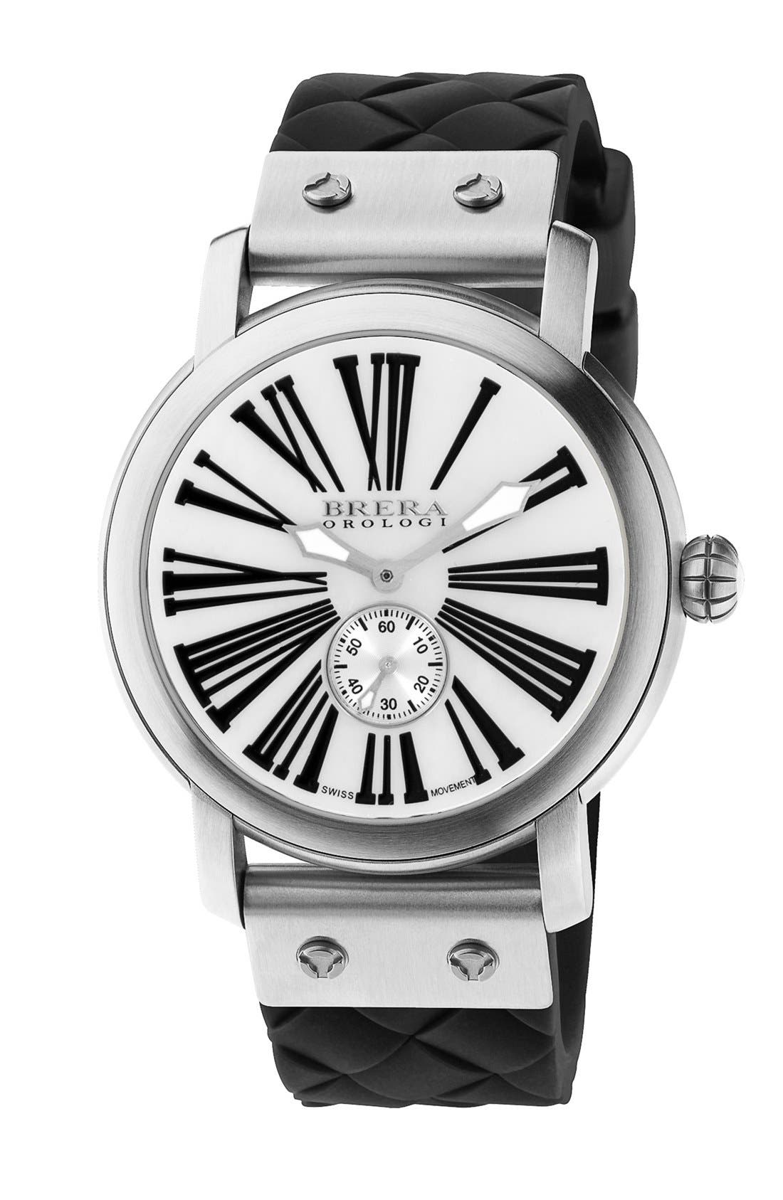Alternate Image 1 Selected - Brera 'Valentina' Round Silicone Strap Watch, 42mm