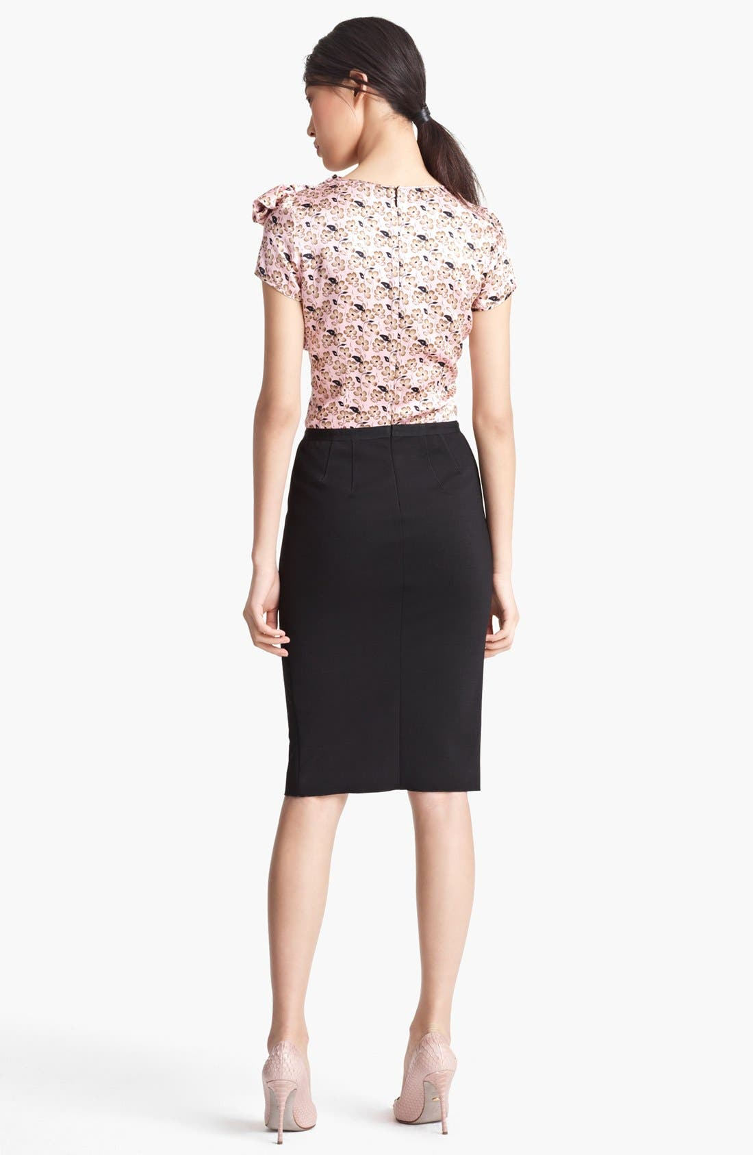 Alternate Image 2  - Nina Ricci Floral Print & Jersey Dress