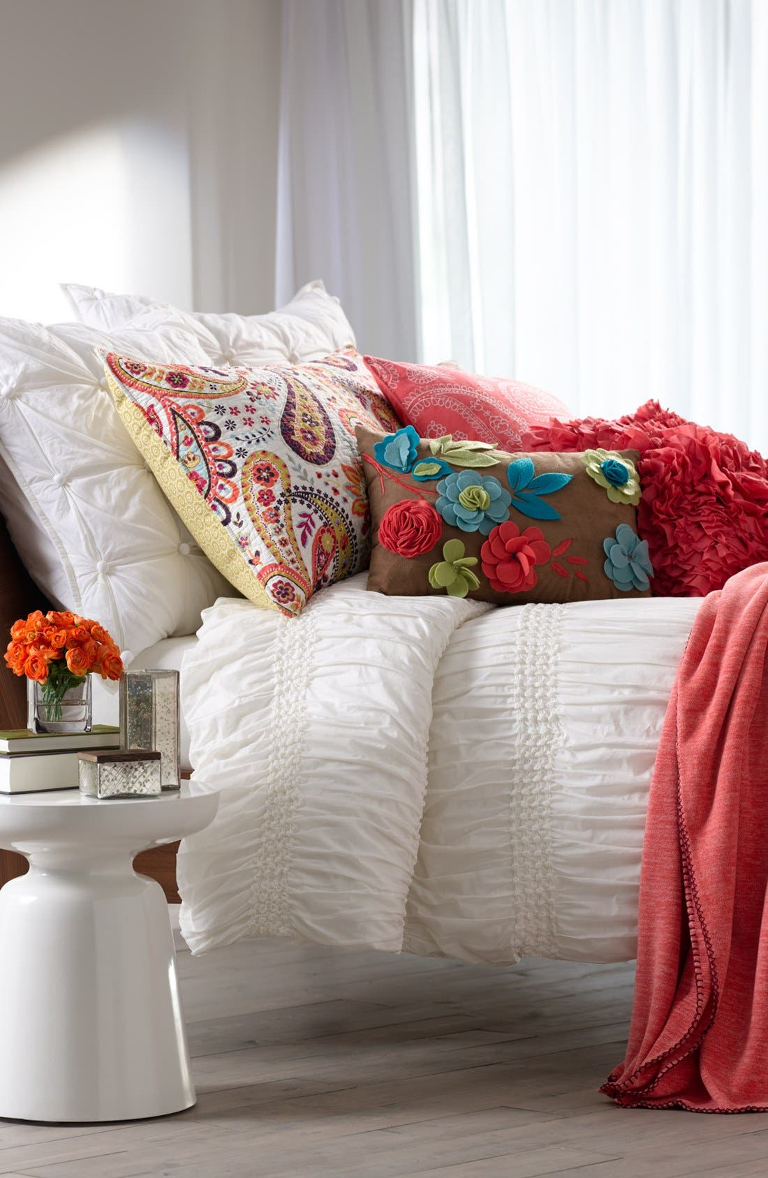 Alternate Image 5  - Nordstrom at Home 'Pom Squares' Euro Sham