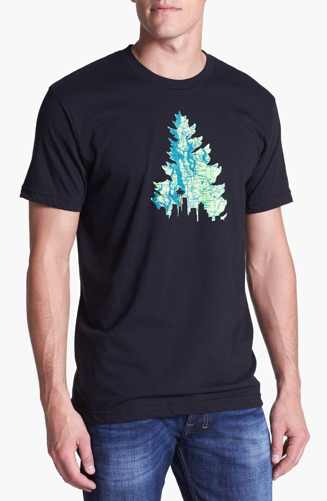 Alternate Image 1 Selected - Casual Industrees 'Johnny Tree' Graphic T-Shirt