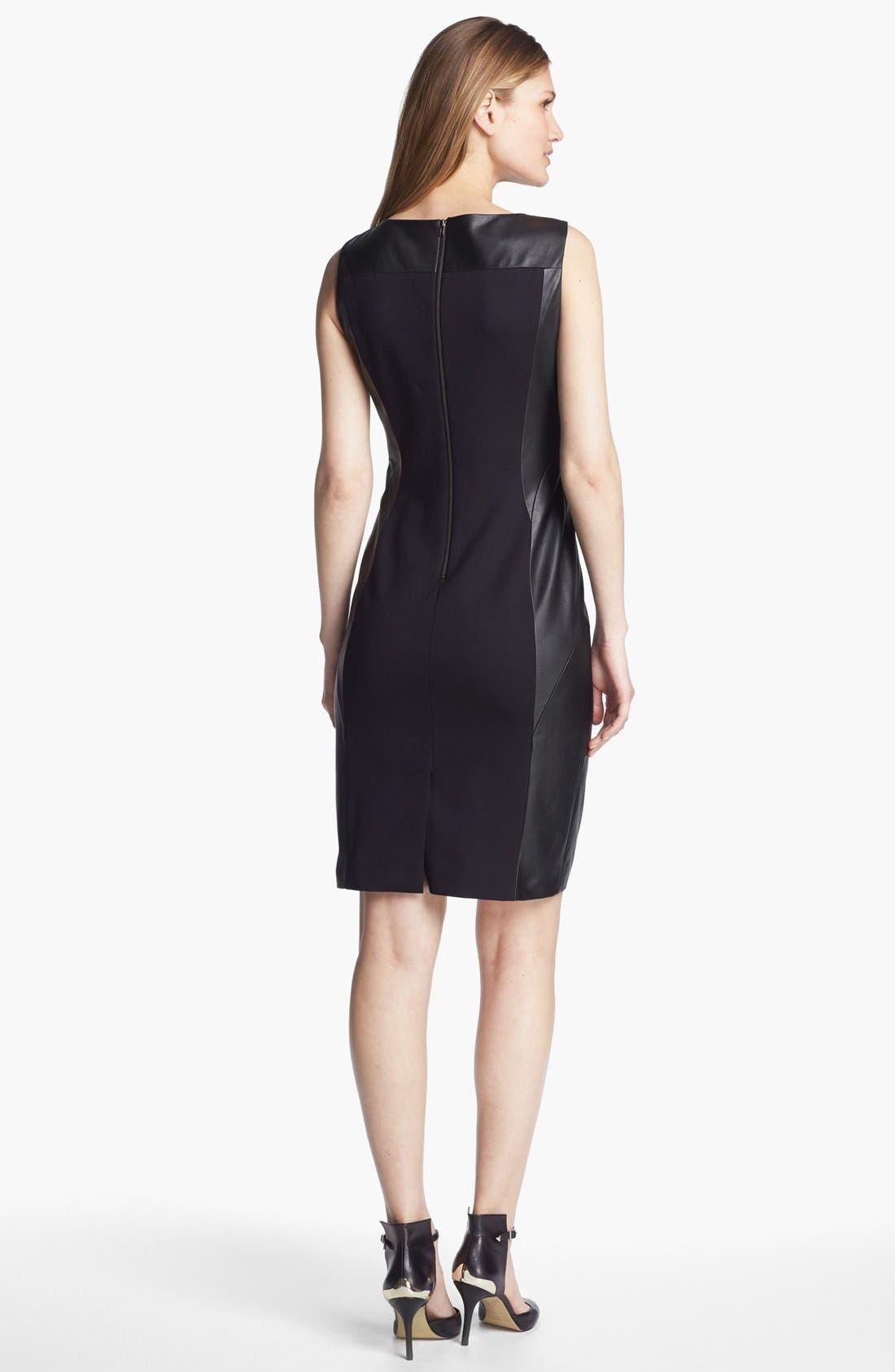 Alternate Image 2  - Classiques Entier® Ponte & Leather Dress