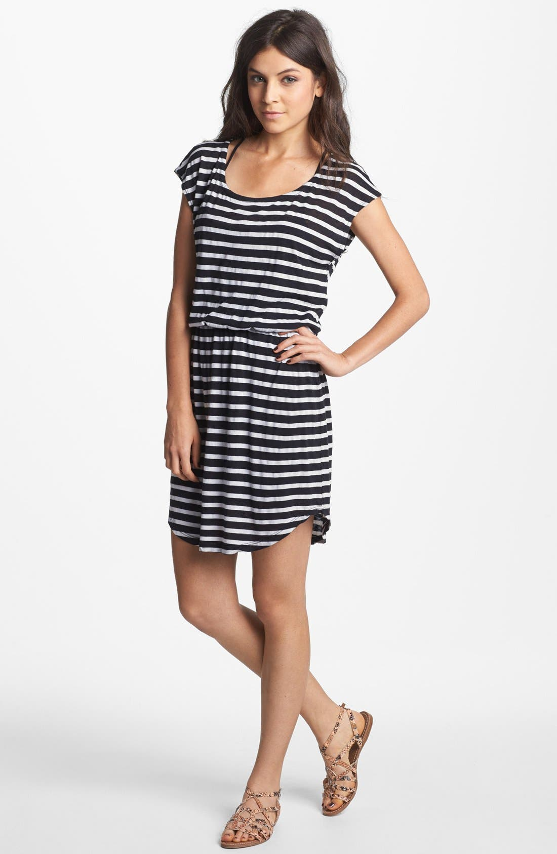 Main Image - Splendid Stripe Blouson Dress