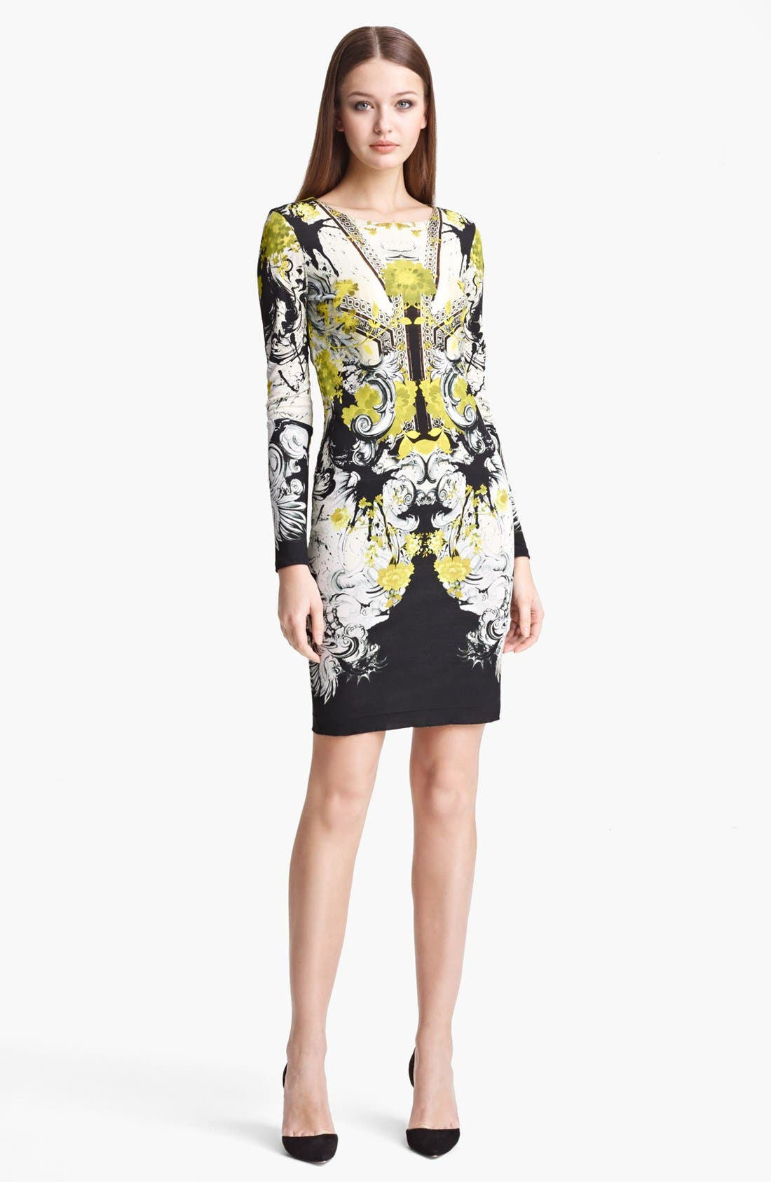 Alternate Image 1 Selected - Roberto Cavalli 'Bestebea Print' Jersey Dress