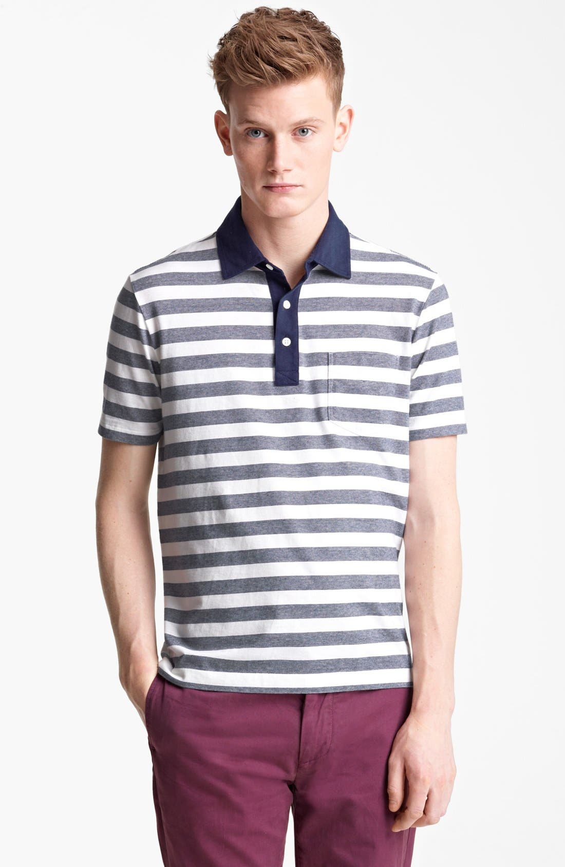 Alternate Image 1 Selected - Jack Spade 'Warren' Stripe Jersey Polo