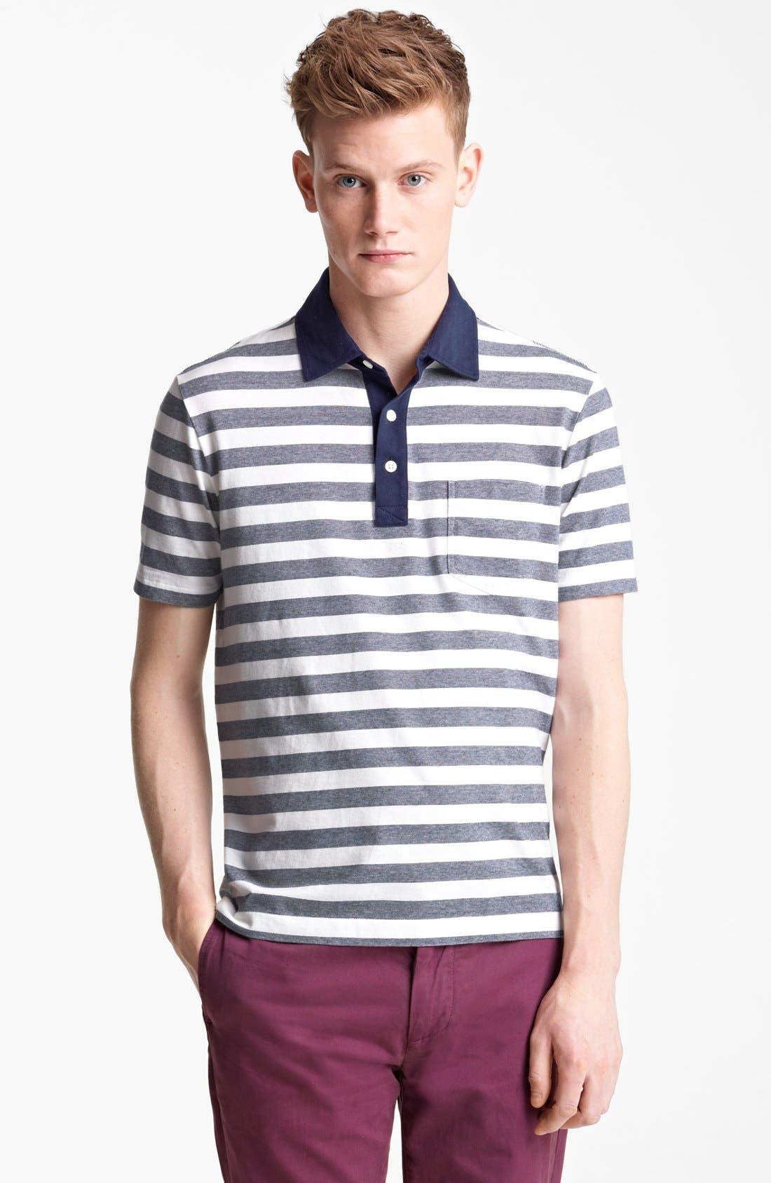 Main Image - Jack Spade 'Warren' Stripe Jersey Polo