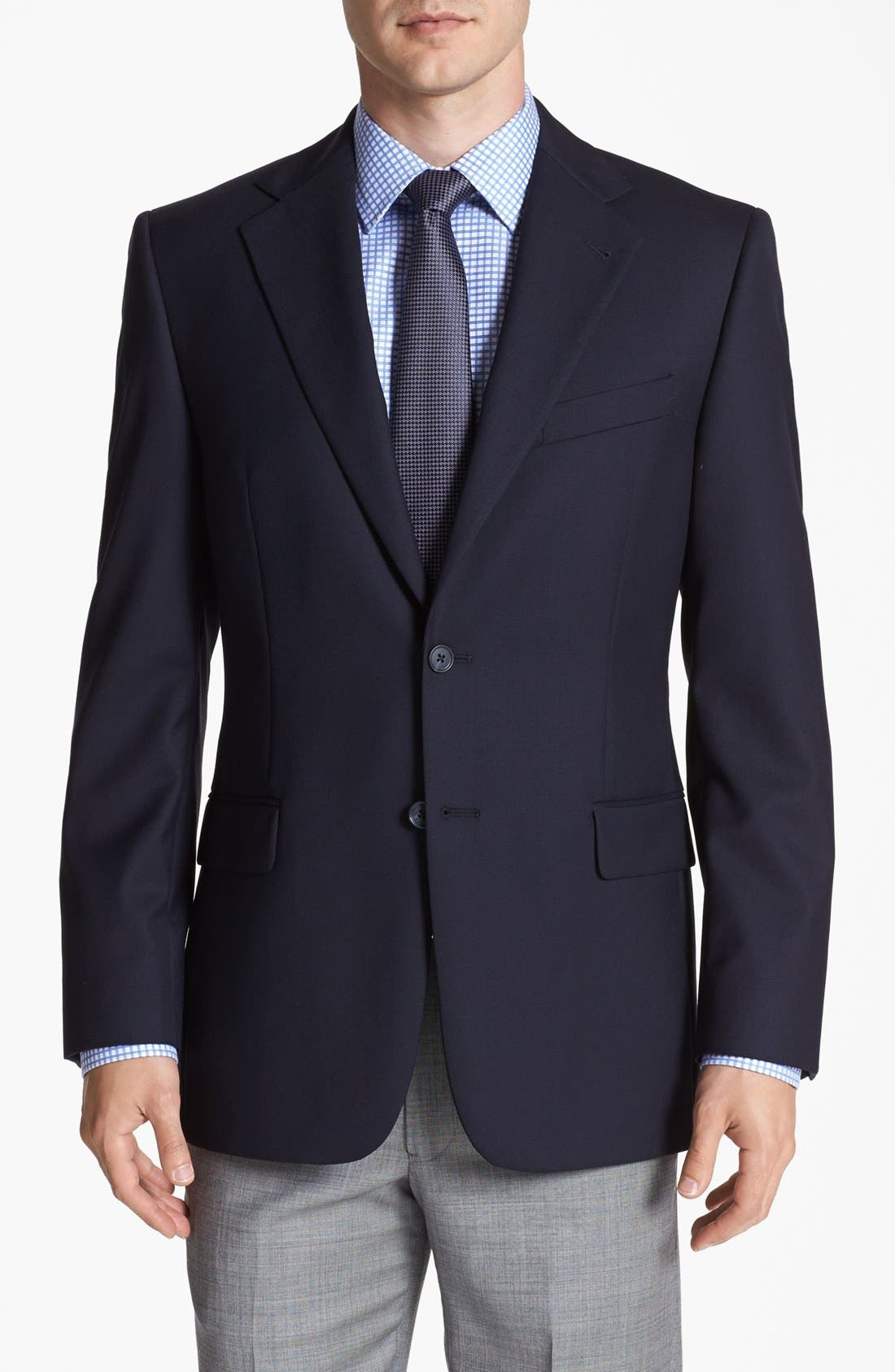 Alternate Image 1 Selected - Joseph Abboud Solid Wool Blazer