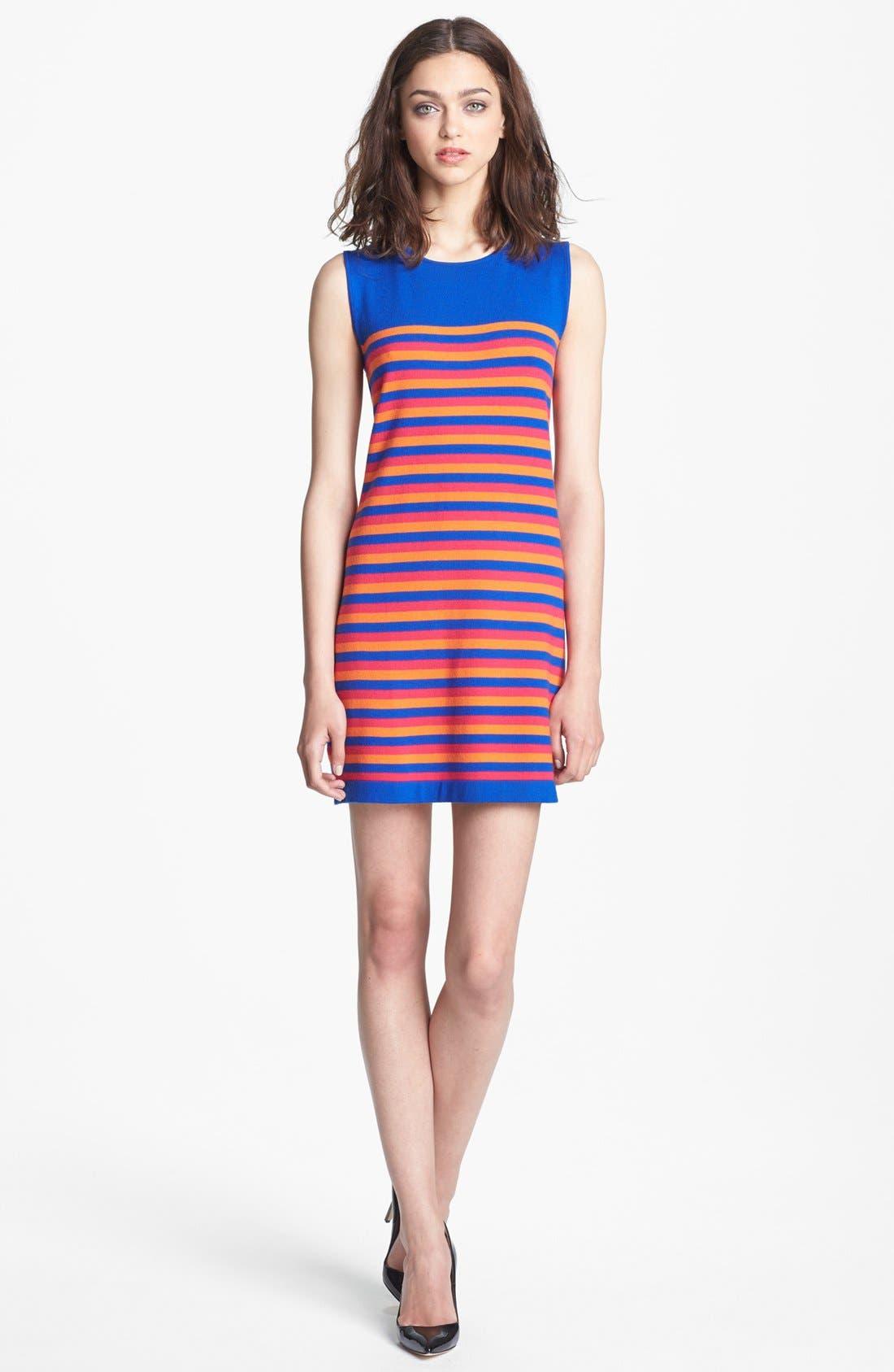 Alternate Image 1 Selected - Miss Wu 'Kaki' Stripe Merino Wool Dress (Nordstrom Exclusive)