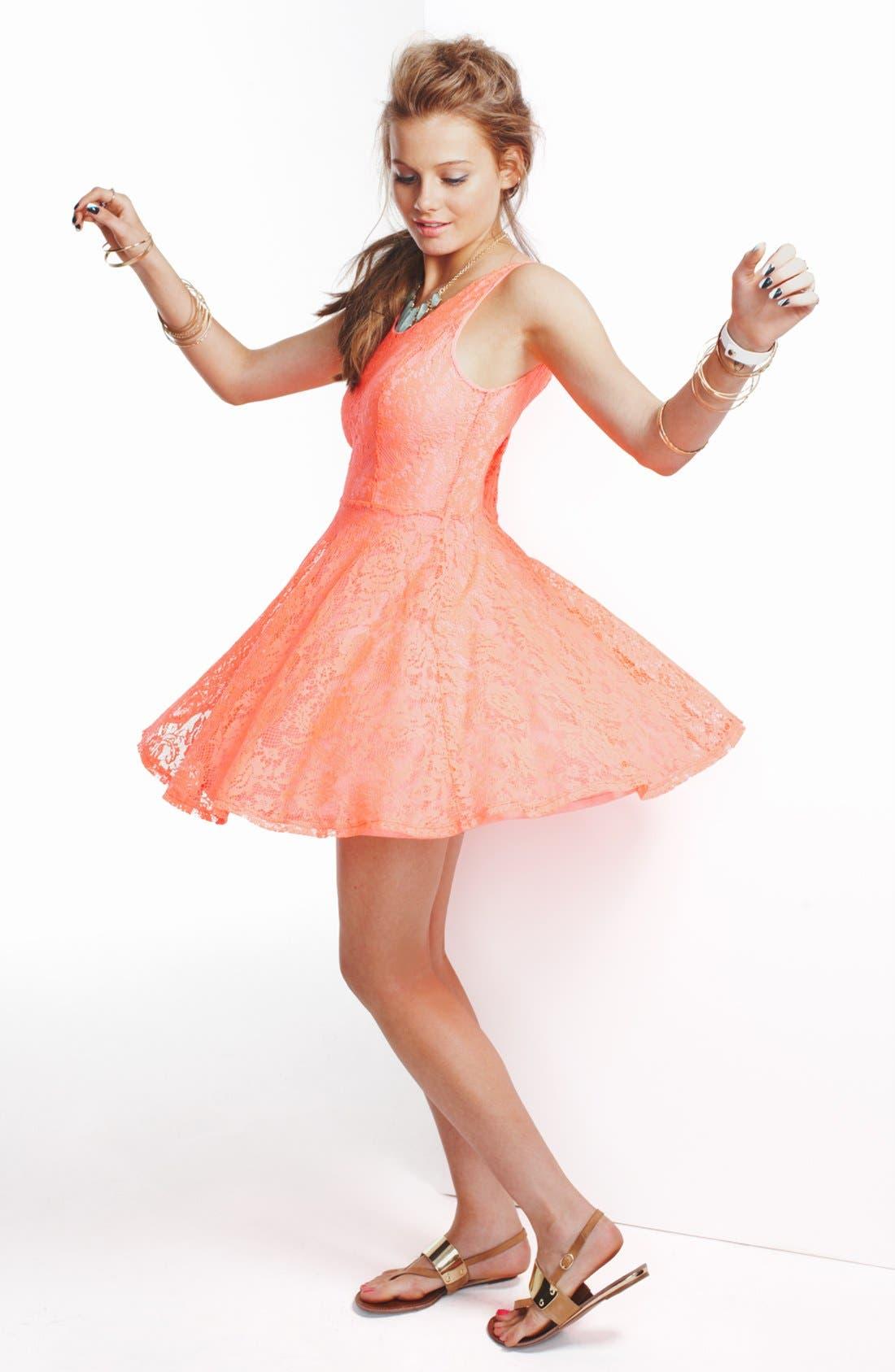 Alternate Image 1 Selected - Robin K Skater Dress & Accessories