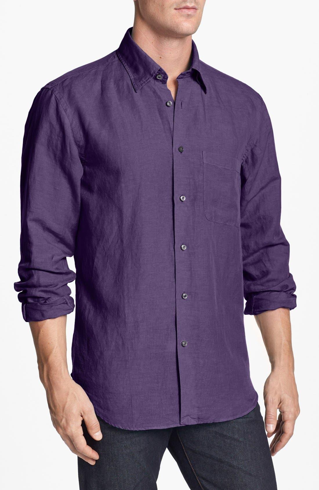 Main Image - Robert Talbott Linen Blend Sport Shirt