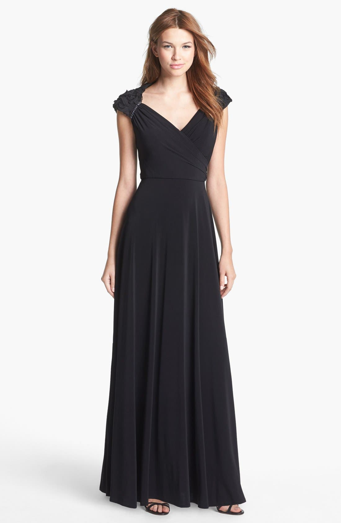 Alternate Image 1 Selected - Patra 'Queen Anne' Ruffle Detail Jersey Dress
