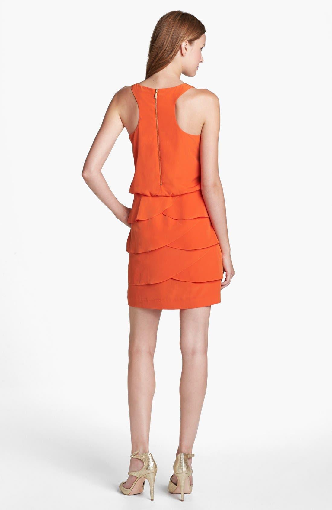 Alternate Image 2  - Laundry by Shelli Segal Tiered Skirt Racerback Blouson Dress