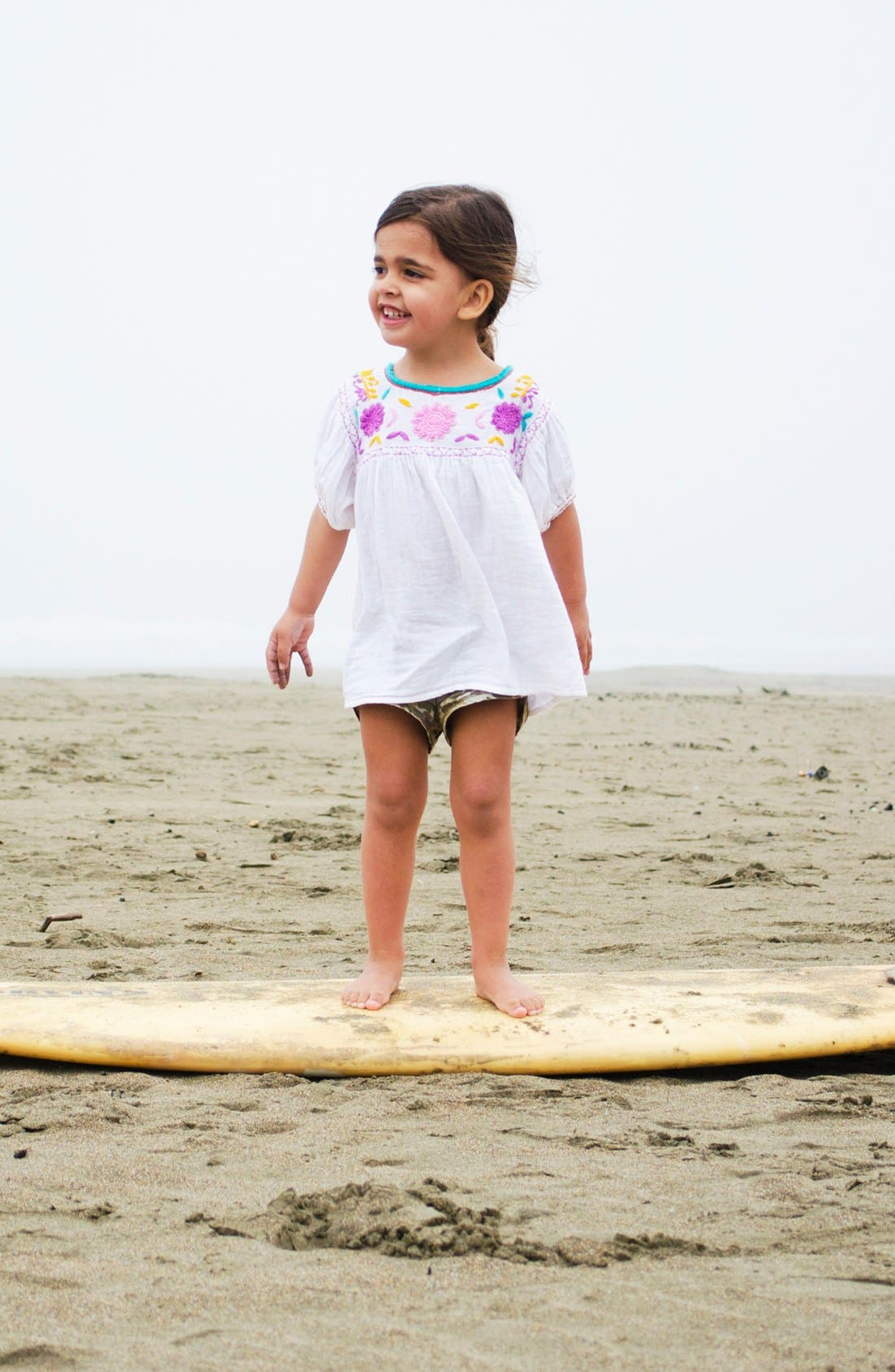 Main Image - Peek Tee & Shorts (Toddler Girls, Little Girls & Big Girls)