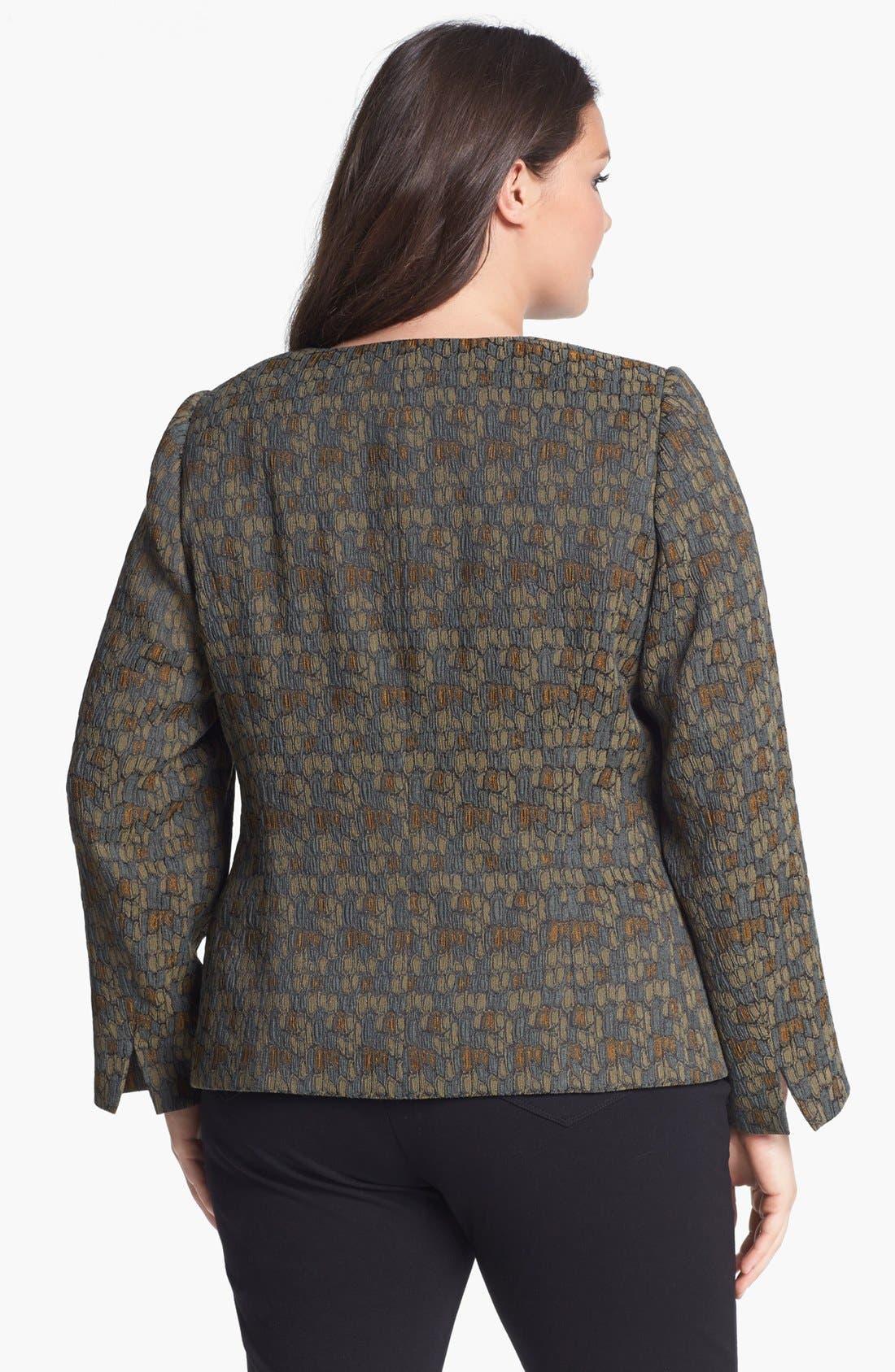 Alternate Image 2  - Lafayette 148 New York 'Trudy' Jacquard Jacket (Plus Size)