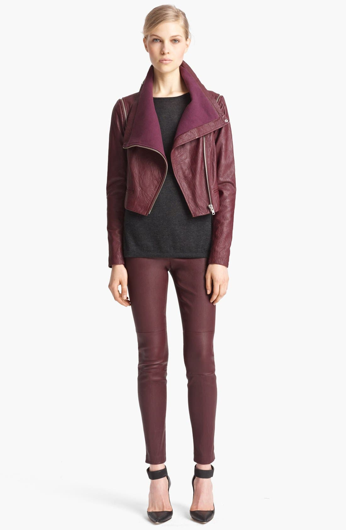 Alternate Image 1 Selected - Yigal Azrouël Moto Jacket & Leggings