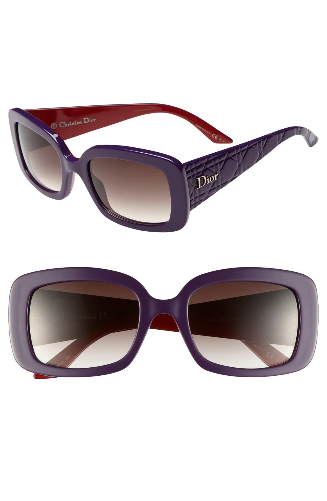 Alternate Image 1 Selected - Dior 'Ladylady 2' 53mm Square Sunglasses