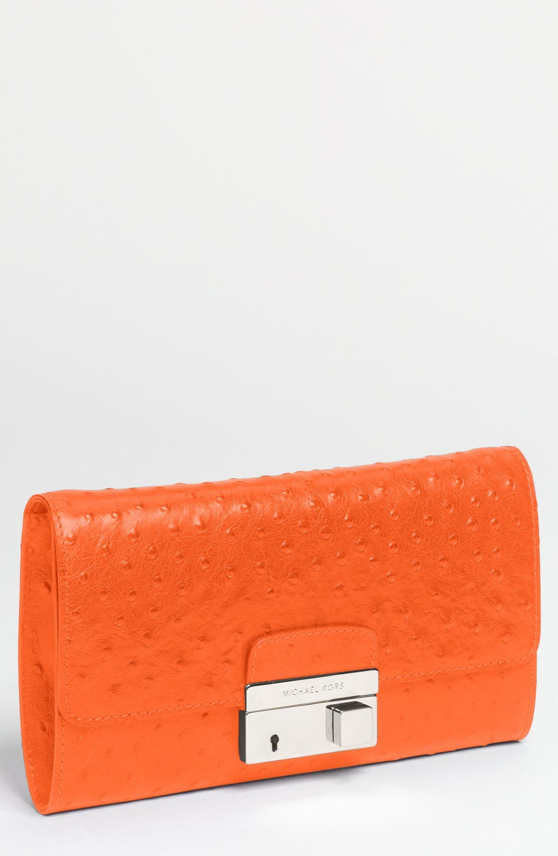 Alternate Image 1 Selected - Michael Kors 'Gia' Ostrich Embossed Leather Clutch (Online Only)