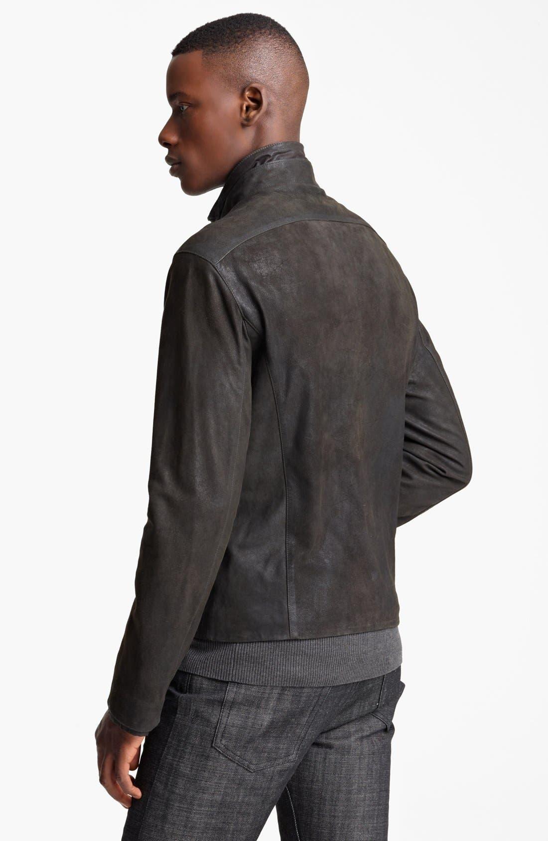 Alternate Image 2  - John Varvatos Collection Suede Moto Jacket