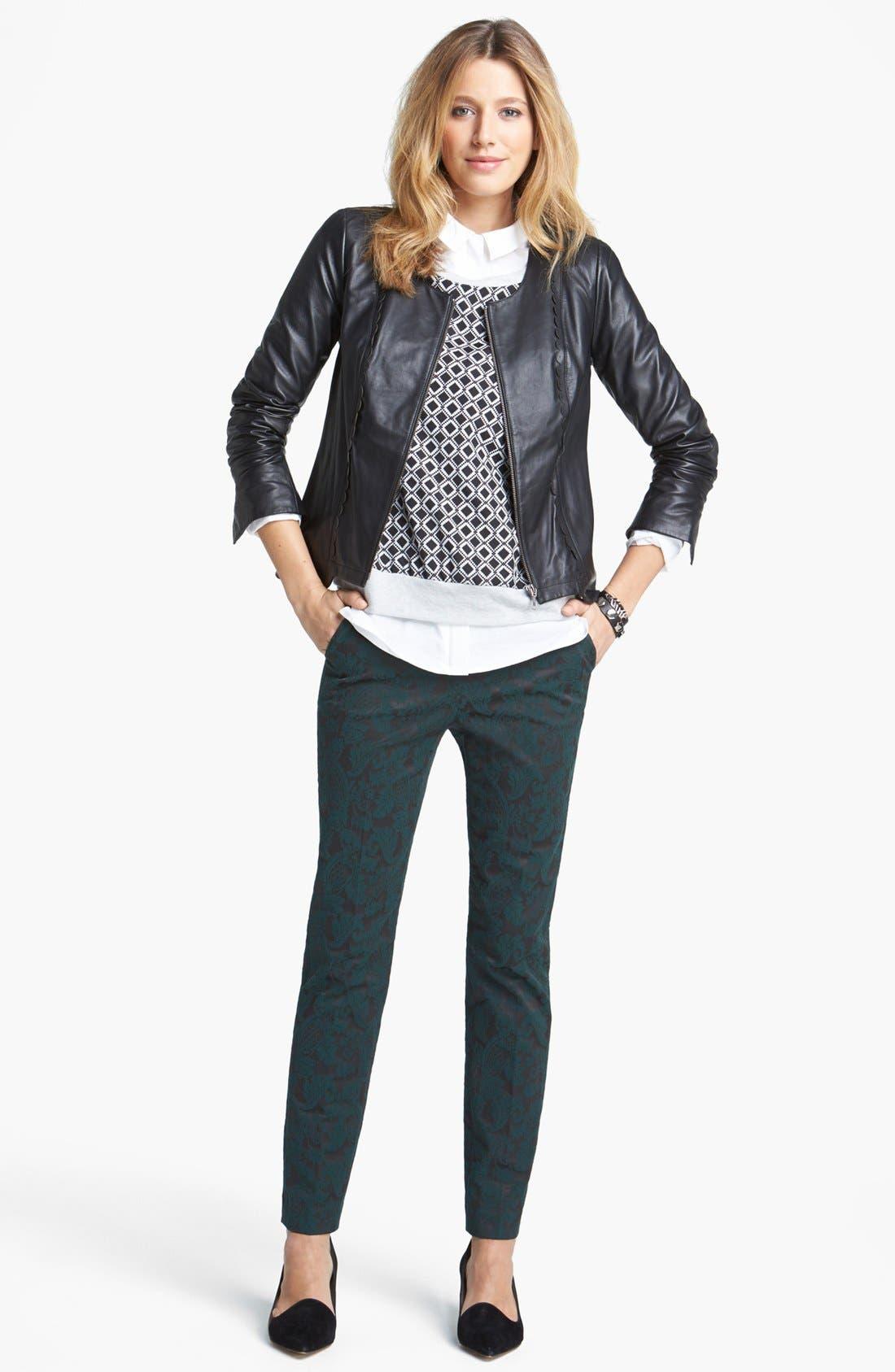 Alternate Image 6  - Hinge® Scallop Trim Leather Jacket