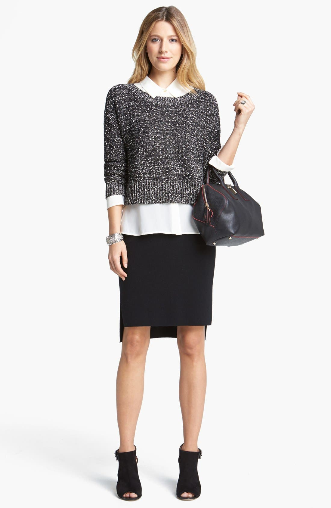 Alternate Image 6  - Eileen Fisher Wrapped Cotton Nubble Sweater