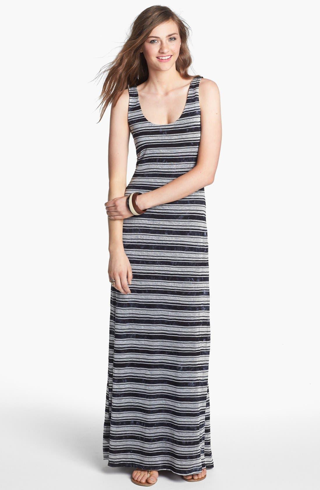 Alternate Image 1 Selected - Socialite Stripe Maxi Dress (Juniors) (Online Only)