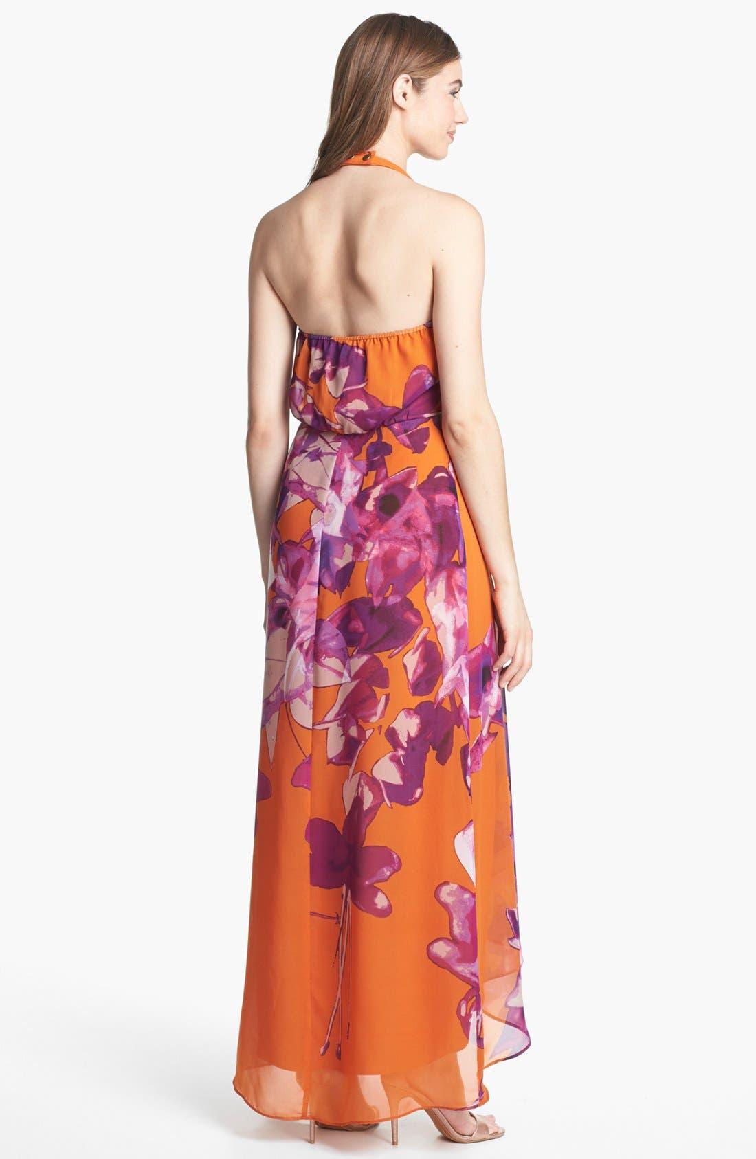 Alternate Image 2  - Jessica Simpson Lace Inset Chiffon Maxi Dress