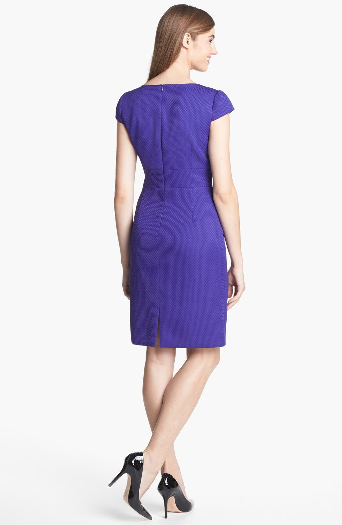 Alternate Image 2  - Tahari Jacquard Sheath Dress