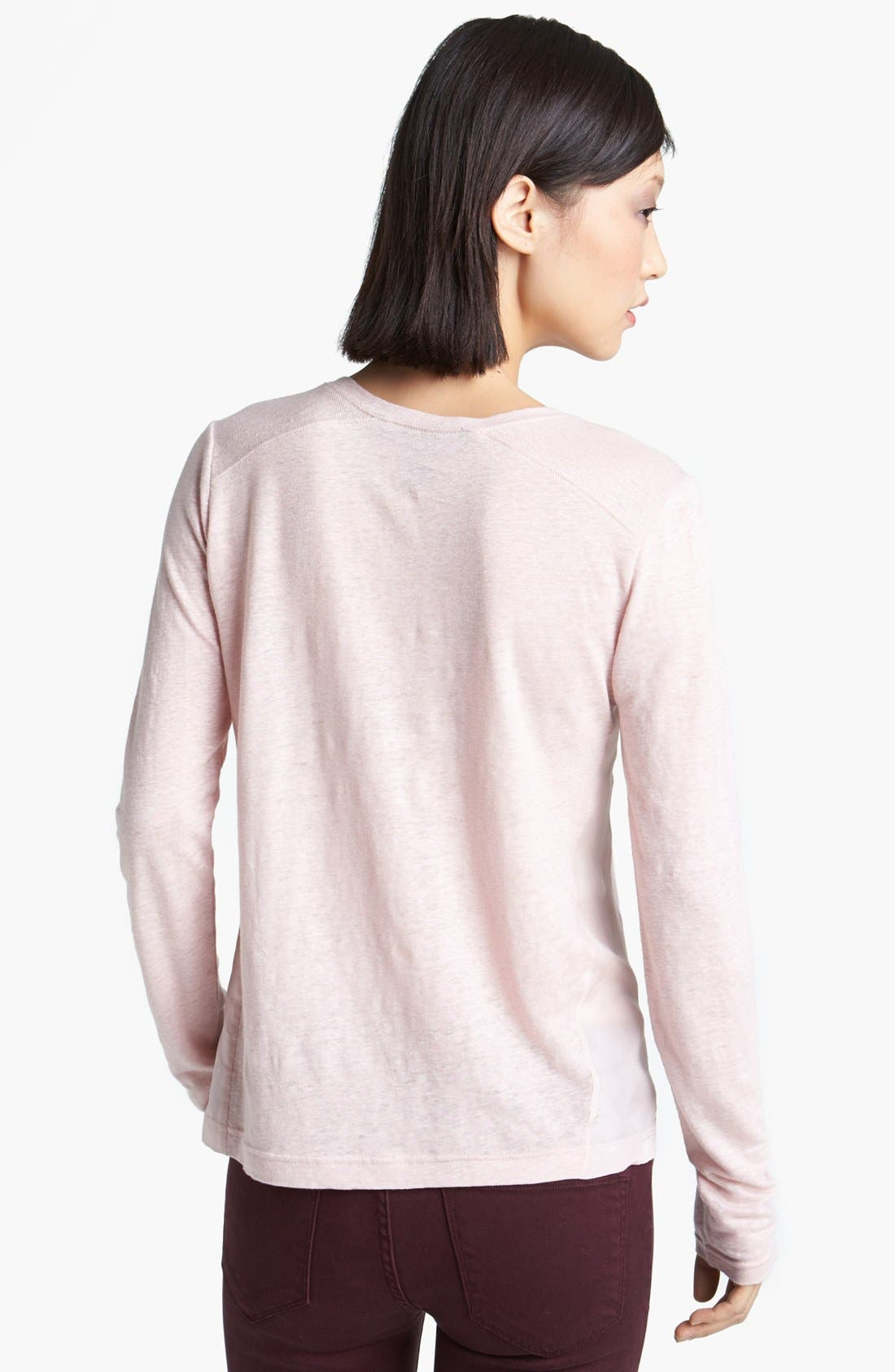 Alternate Image 2  - MARC BY MARC JACOBS 'Martha' Long Sleeve Linen Tee