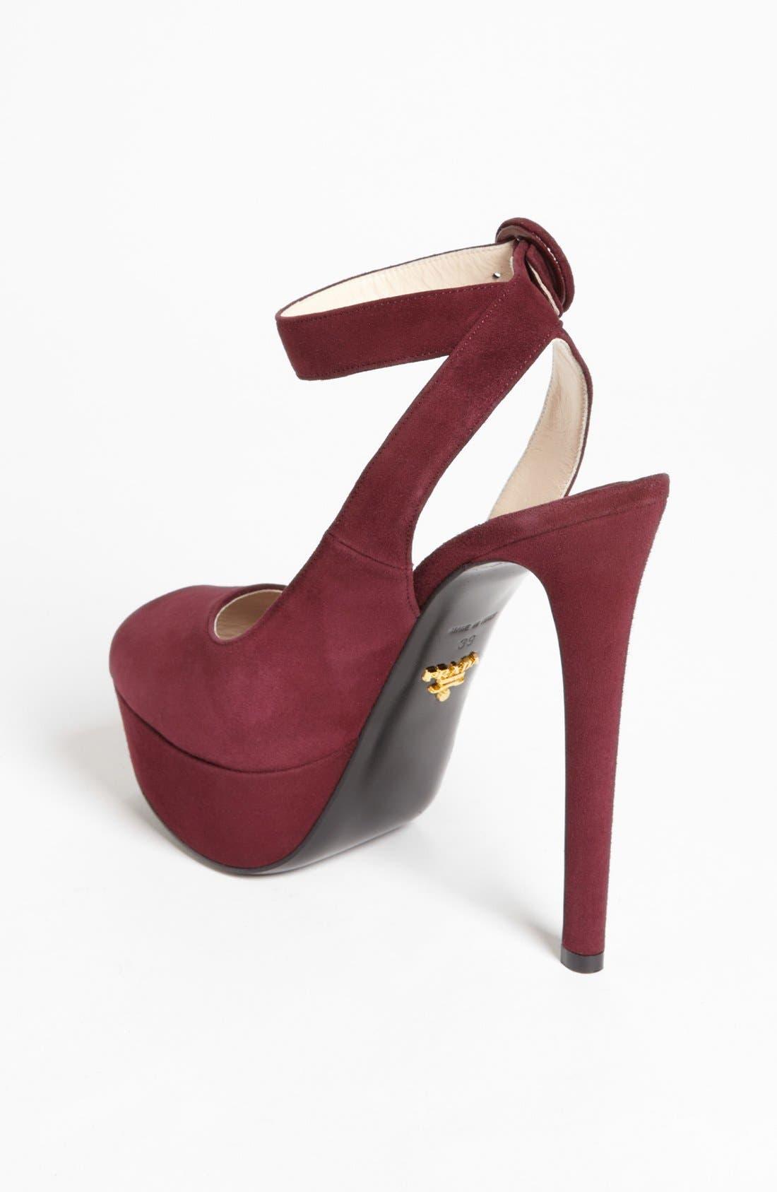 Alternate Image 2  - Prada Ankle Strap Platform Sandal