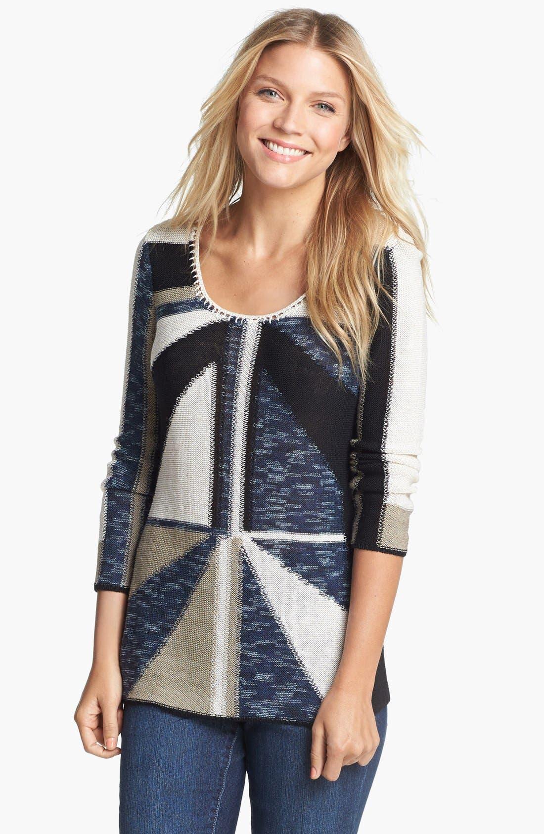 Alternate Image 1 Selected - NIC+ZOE 'Triangle' Sweater