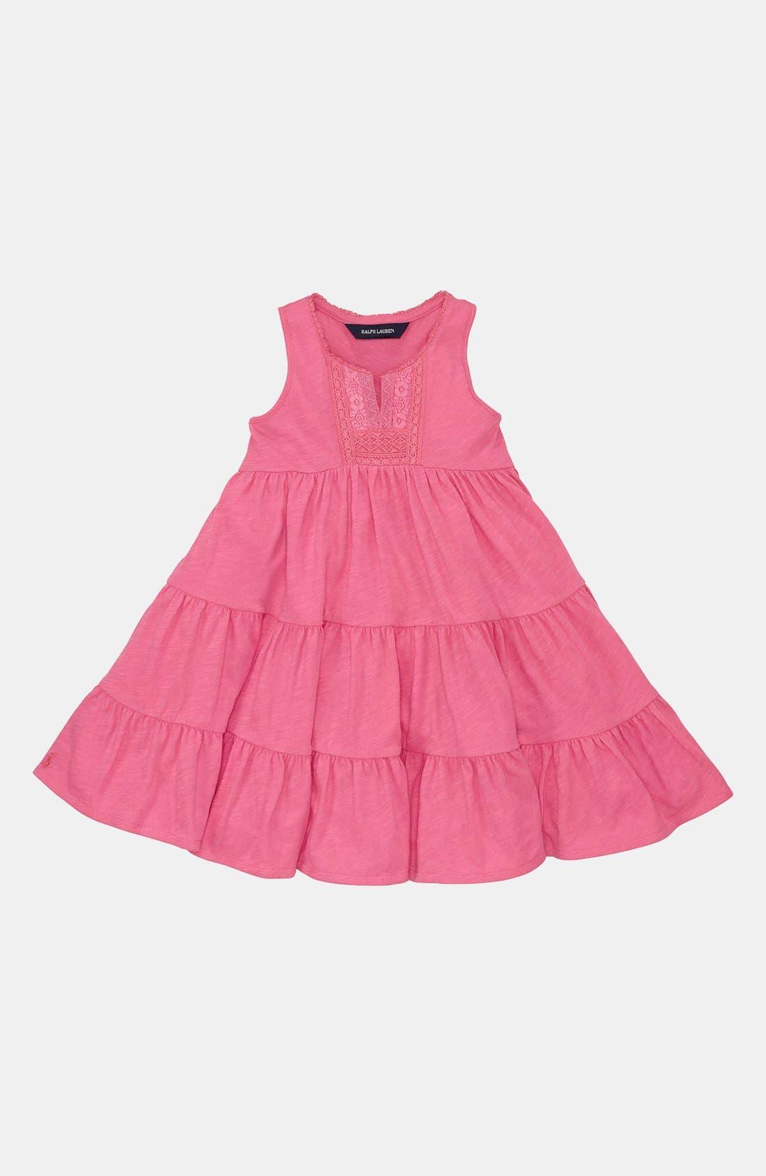 Alternate Image 1 Selected - Ralph Lauren Sleeveless Dress (Toddler Girls)