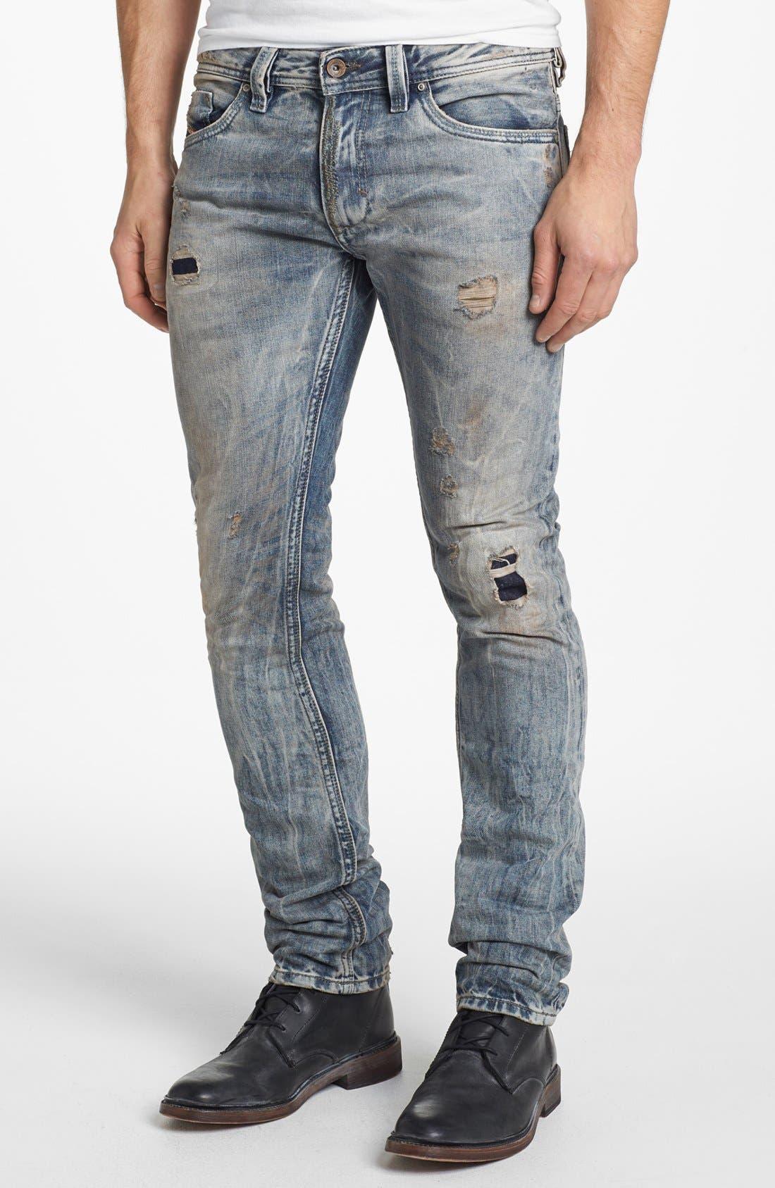 Alternate Image 2  - DIESEL® 'Thanaz' Skinny Fit Jeans (0813Z)