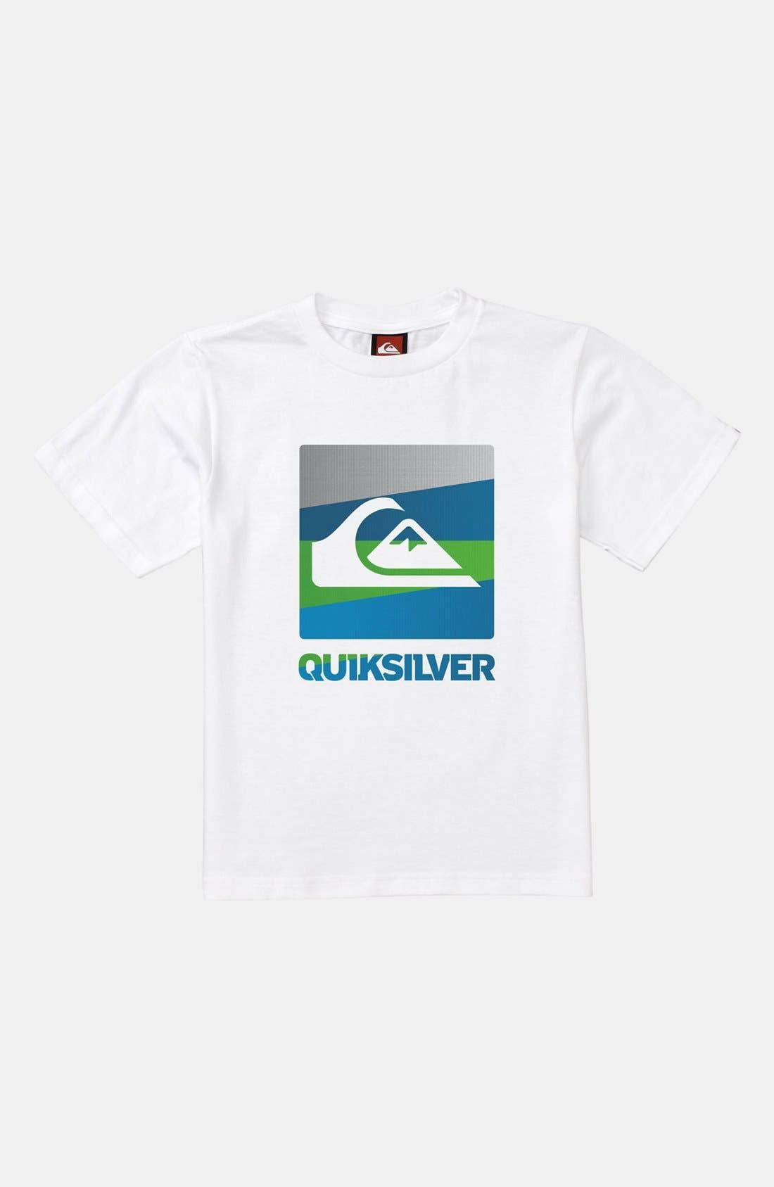 Main Image - Quiksilver Logo Screenprint T-Shirt (Toddler Boys)