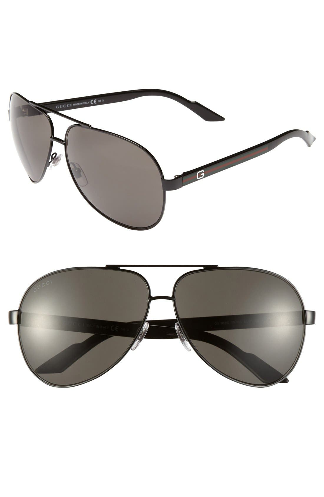 Alternate Image 1 Selected - Gucci 63mm Aviator Sunglasses