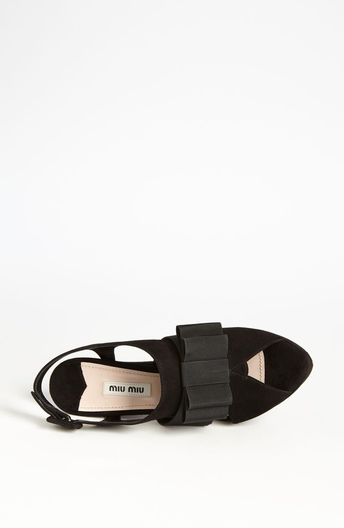 Alternate Image 3  - Miu Miu 'Tuxedo Bow' Sandal