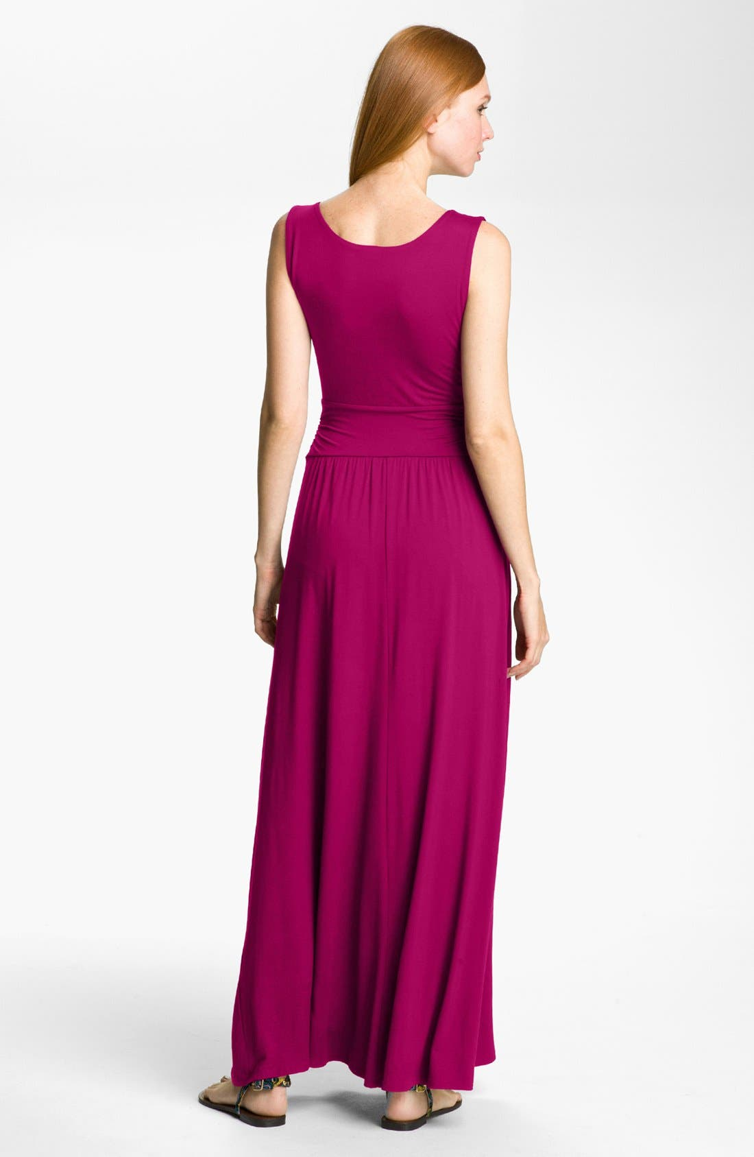 Alternate Image 2  - Three Dots V-Neck Jersey Maxi Dress