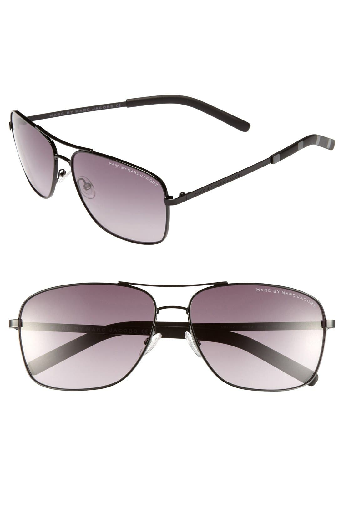 Alternate Image 1 Selected - MARC BY MARC JACOBS 59mm Navigator Sunglasses
