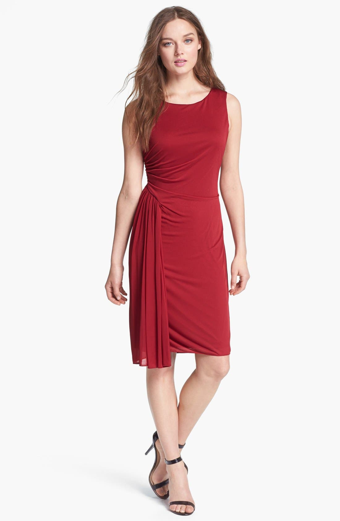 Alternate Image 1 Selected - Adrianna Papell Side Drape Sheath Dress