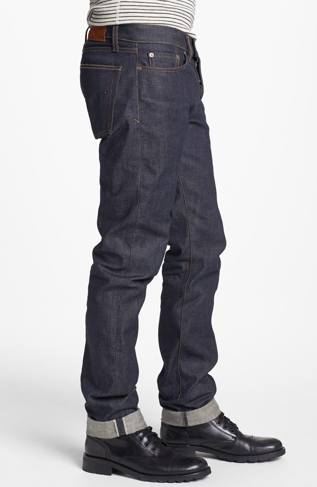 Alternate Image 3  - Vince Five-Pocket Selvedge Denim Jeans