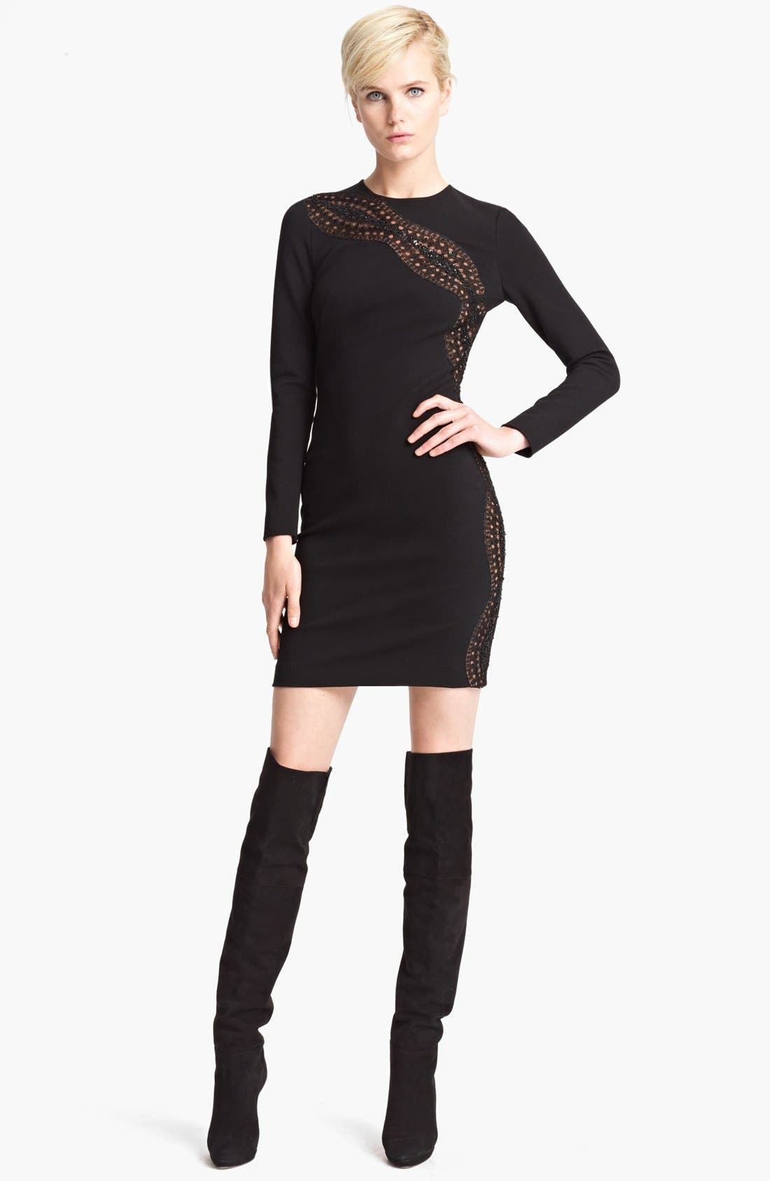 Main Image - Emilio Pucci Embroidered Punto Milano Dress